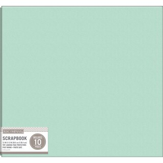 K&Company Faux Leather Post Bound Basic Album 12inX12in Mint