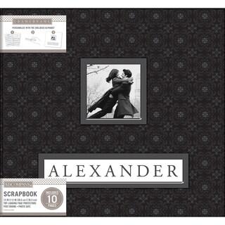 K&Company Frame A Name Post Bound Album 12inX12in Black