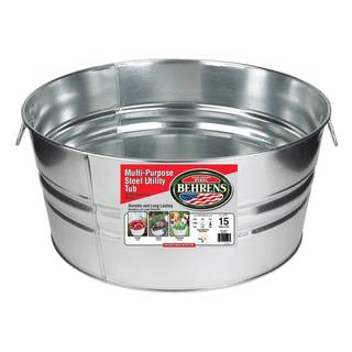 Galvanized Steel Round Tub (15 Gallons)