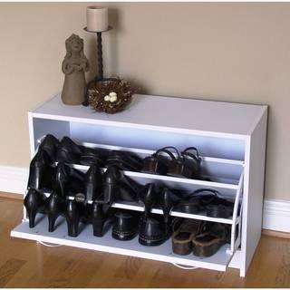 Deluxe White Single Shoe Cabinet