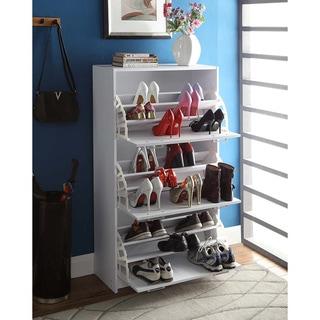 Deluxe White Triple Shoe Cabinet