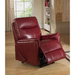Napa Top Grain Leather Lay-Flat Reclining Armchair with Memory Foam Seating