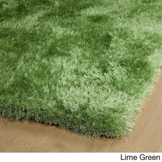 Hand-Tufted Dazzle Shag - 2 x 3 (Lime Green)
