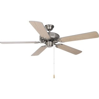 Maxim Basic-Max 52' Ceiling Fan, Silver/Maple Blades