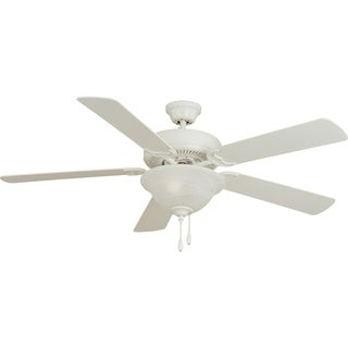 Maxim Basic-Max 52' Ceiling Fan White/Light Oak Blades