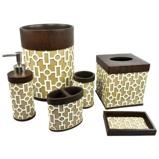 Sherry Kline Linear 6-piece Bath Accessory Set
