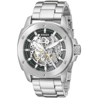 Fossil Men's Modern Machine Automatic Skeleton Dial Silver-Tone Stainless Steel Bracelet Watch