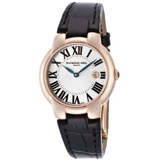 Raymond Weil Women's 5229-PC5-00659 'Jasmine' Black Leather Watch