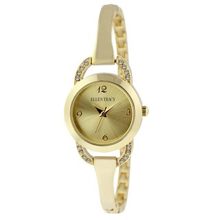 Ellen Tracy Women's ET5182 Goldplated Bracelet Watch