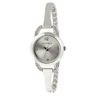 Ellen Tracy Women's ET5182 Silverplated Bracelet Watch