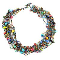 Handmade 12-Strand Beaded Necklace - Beach Ball (Guatemala) - multi