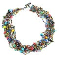 Handmade 12-Strand Beaded Necklace - Beach Ball (Guatemala)
