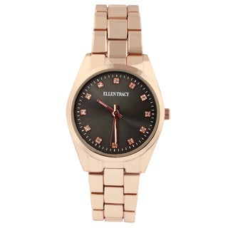 Ellen Tracy Women's ET5198 Rose Goldplated Bracelet Watch