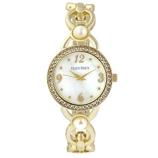 Ellen Tracy Women's ET5233 Gold Open Link Bracelet Watch