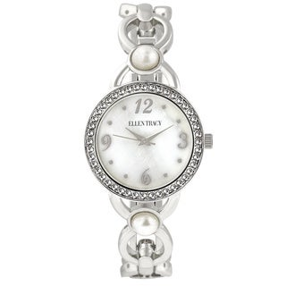 Ellen Tracy Women's ET5233 Silver Open Link Bracelet Watch