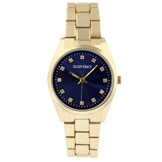 Ellen Tracy Women's ET5198 Goldplated Bracelet Watch