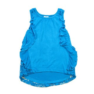 Girls' Pull-over Tank with Detailed Sides