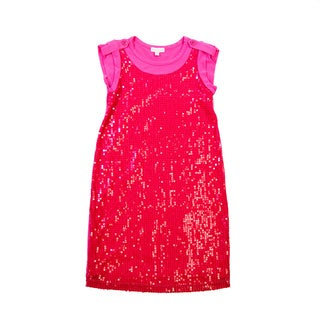 Girls' Knit Sheath Beached Dress