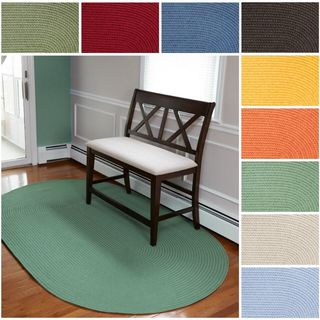 Rhody Rug Venice Indoor/ Outdoor Oval Braided Rug (4' x 6') - 4' x 6'