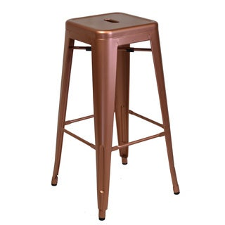 Industrial Bistro Copper Backless Counter Stool