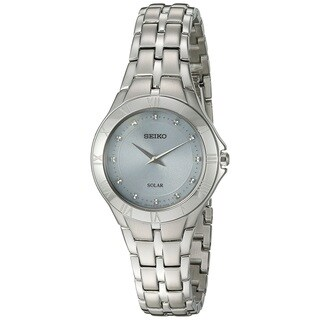 Seiko Ladies SUP307 Solar Stainless Steel Silver Tone with a Mother of Pearl Dial and a Date Window