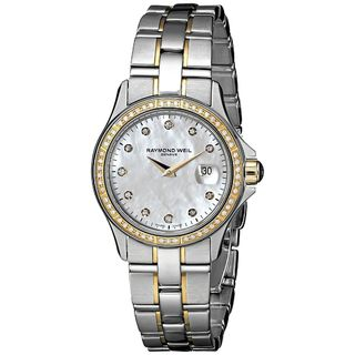 Raymond Weil Women's 9460-SGS-97081 'Parsifal' 18k Yellow Gold Diamond Two-Tone Stainless Steel Watc