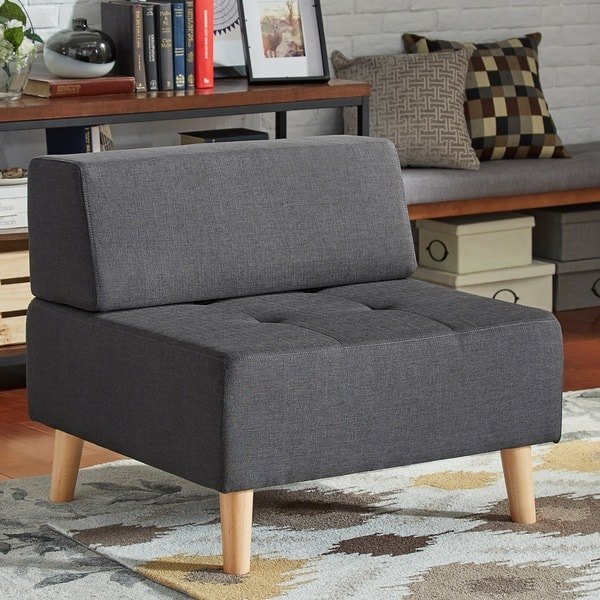 Magnificent Shop Soto Modern Upholstered Modular Ottoman Chair Inspire Q Gmtry Best Dining Table And Chair Ideas Images Gmtryco