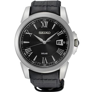 Seiko Men's SNE397 Stainless Steel Le Grand Sport Solar Watch with Sapphire Crystal|https://ak1.ostkcdn.com/images/products/11663113/P18592794.jpg?impolicy=medium