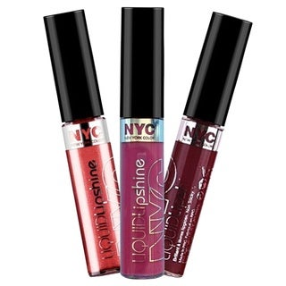 NYC Liquid Lipshine 3-piece Lip Gloss Collection