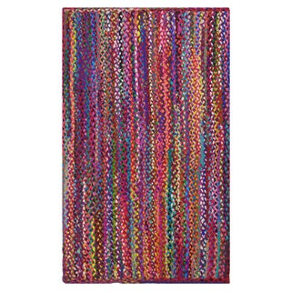 Celebration Braided Multi Chindi Area Rug 4' x 6'