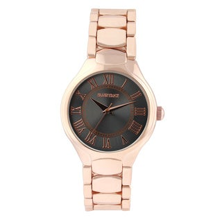 Ellen Tracy Women's ET5194 Rose Goldplated Bracelet Grey Sunray Dial Watch