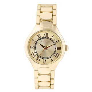 Ellen Tracy Women's ET5194 Goldplated Bracelet Gold Sunray Dial Watch