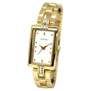 Ellen Tracy Women's ET5135 Gold Bracelet Rectangular Watch