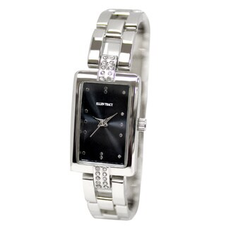 Ellen Tracy Women's ET5135 Silverplated Bracelet Rectangular Watch