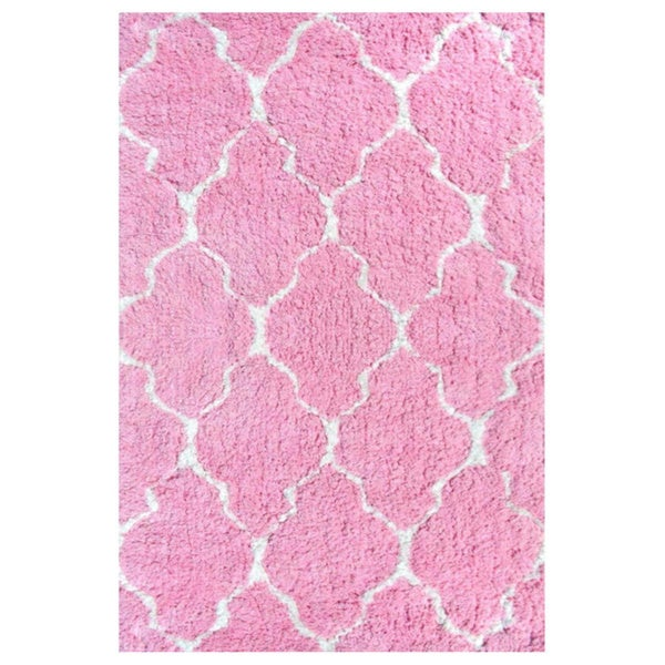 Hand-Tufted Pink Clouds Polyester Area Rug (2'8X4'8