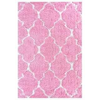 Hand-Tufted Pink Clouds Polyester Area Rug (2'8X4'8)
