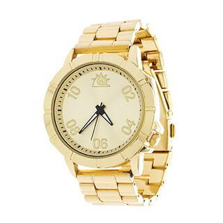 Zunammy Jumbo Men's Gold Case and Dial / Gold Strap Watch