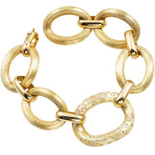 18k Yellow Gold 4/5ct TDW Giant Florentine Link Estate Bracelet (H-I, SI1-SI2)