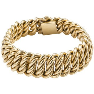 Pre-owned 18k Yellow Gold Antique Heavy Estate French Bracelet|https://ak1.ostkcdn.com/images/products/11663227/P18592858.jpg?_ostk_perf_=percv&impolicy=medium