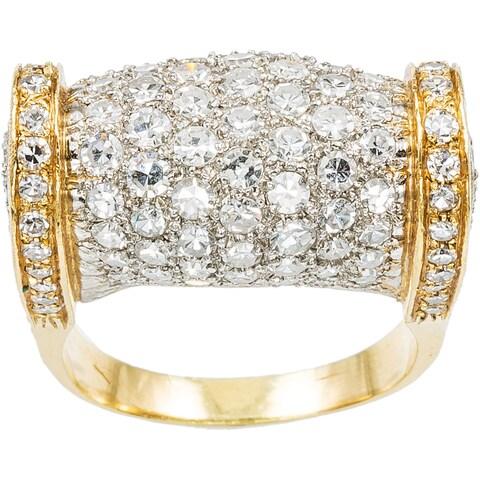 18k Yellow Gold 5ct TDW Diamond Pave Diamonds Estate Dome Ring Size 8.5 (H-I, SI1-SI2)