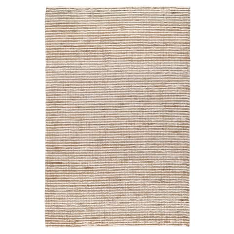 Kosas Home Handwoven Santa Clarita Wool and Jute Ivory Rug - 2' x 3'