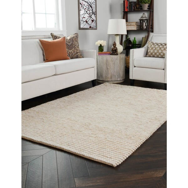 Kosas Home Handwoven Santa Clarita Wool And Jute Ivory Rug