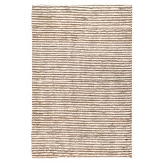 Kosas Home Handwoven Victoria Wool Ivory and Jute Rug (8' x 10')