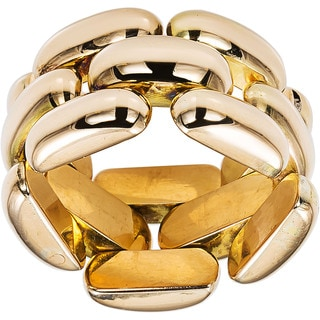 14k Yellow Gold Flexible Estate Link Ring