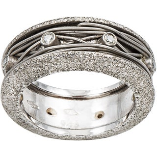 14k White Gold 1/5ct TDW Diamond Handmade Wedding Band Size 6.25 (I-J, I1-I2)