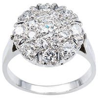 14k White Gold 1 1/4ct TDW Cluster Diamond Estate Ring (G-H, VS1-VS2)