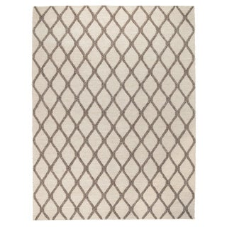 Kosas Home Hand Woven Morrell Cream and Mocha Rug (8' x 10')