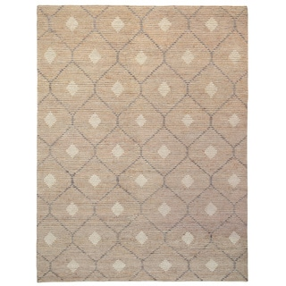 Kosas Home Handwoven Reign Natural/ Beige/ Grey Wool/ Jute/ Cotton Rug (8' x 10')