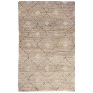 Kosas Home Handwoven Reign Natural/ Beige/ Grey Wool/ Jute/ Cotton Rug (2' x 3')