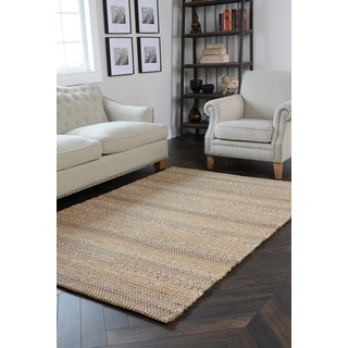 Kosas Home Handcrafted Cali Natural and Grey Rug (4' x 6')